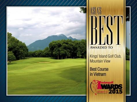 """BRG Kings' Island Golf Resort nhận giải """"Sân gôn tốt nhất Việt Nam"""""""
