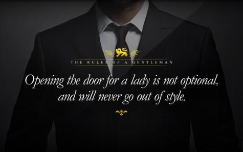 Để trở thành người đàn ông lịch lãm - mở cửa - elleman