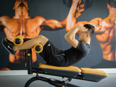 các bài tập cơ bụng hiệu quả - gập bụng với ghế dốc 2 - elleman