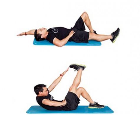 Bài tập thứ 3: Tập cơ chéo bụng, tạo V-shape.
