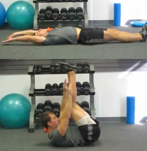Bài tập thứ 3: Kết hợp cả cơ bụng trên và dưới cùng với cơ 2 bên liên sườn.