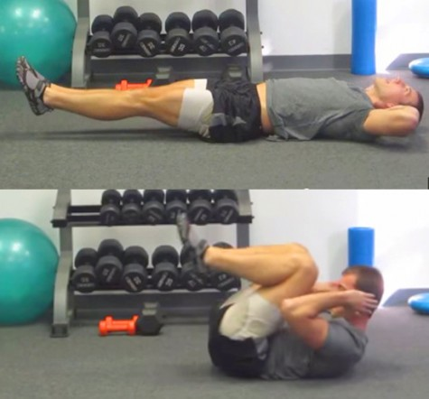 Bài tập thứ 5: Tập cơ bụng dọc 2 bên sườn, cơ bụng trên dưới và cơ lưng.