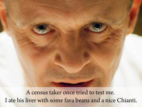 """""""Có một tên điều tra viên đến thử tôi. Và rồi tôi ăn lá gan của hắn với một ít đậu khô, cùng một chai vang Chiani hảo hạng"""" - Hannibal Lecter."""