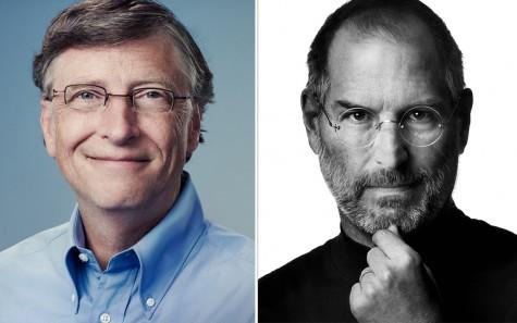 Tỷ phú Bill Gate của Microsoft và Steve Jobs, cố đồng sáng lập Apple.