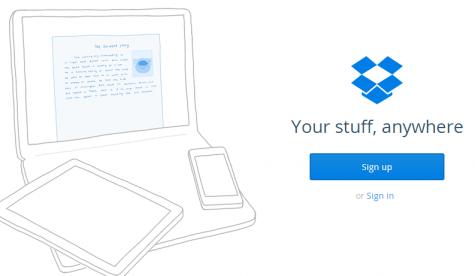 Nền tảng sao lưu trực tuyến Dropbox.