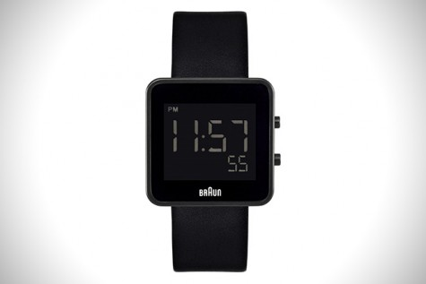 Braun Black Digital Watch.