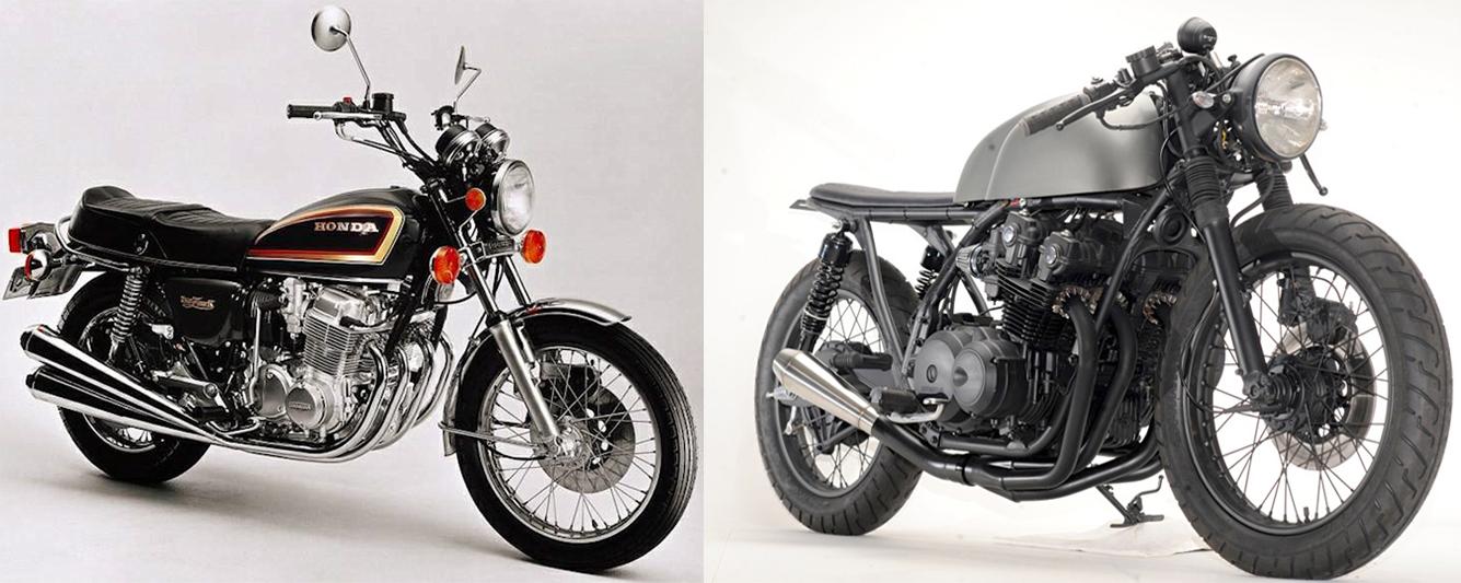 Honda CB750: Nguyên bản và Cafe Racer.