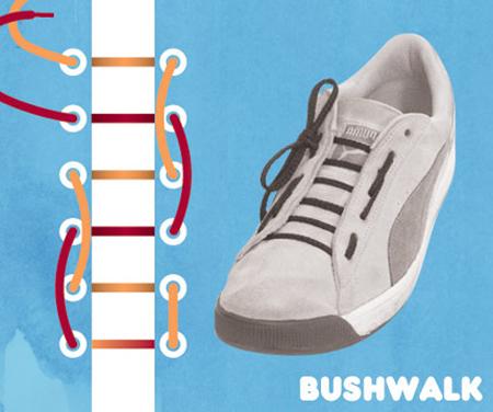 Kiểu buộc Bushwalk.