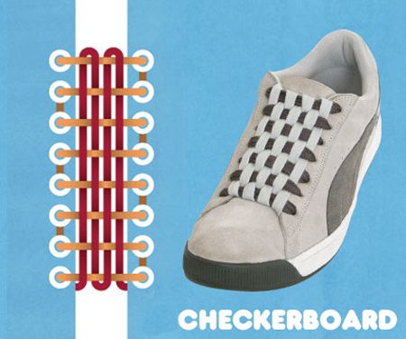 Kiểu buộc Checkerboard.