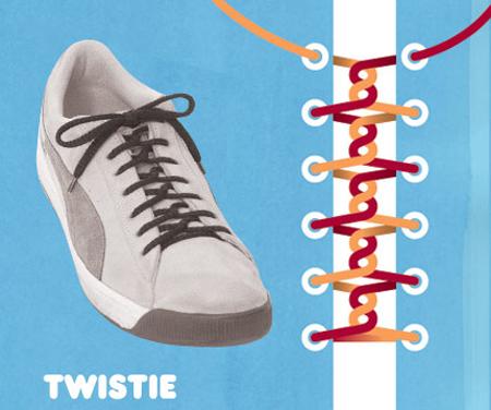 Kiểu buộc Twistie.