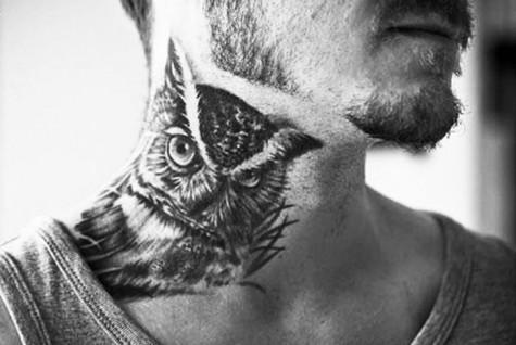 Ý nghĩa những hình xăm đẹp cho nam - chim cú - elleman