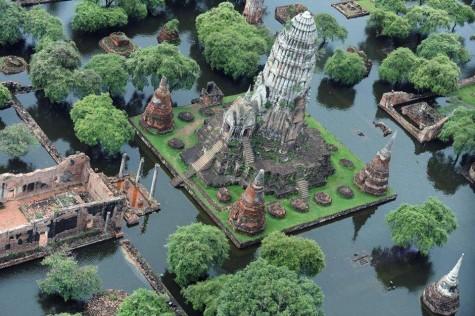 Cố đô Ayutthaya nổi tiếng với quần thể đền chùa