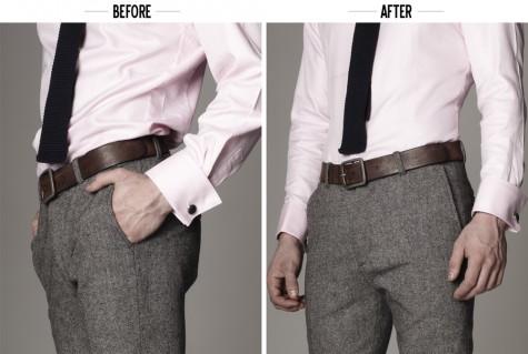 Đừng nên chọn một chiếc áo quá rộng khi mặc suit