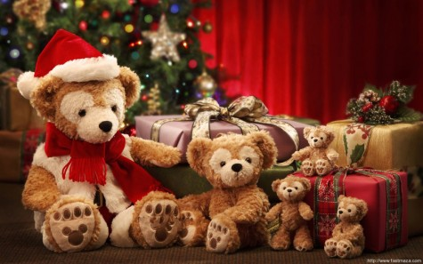 quà tặng giáng sinh cho nàng - gấu bông giáng sinh - elleman