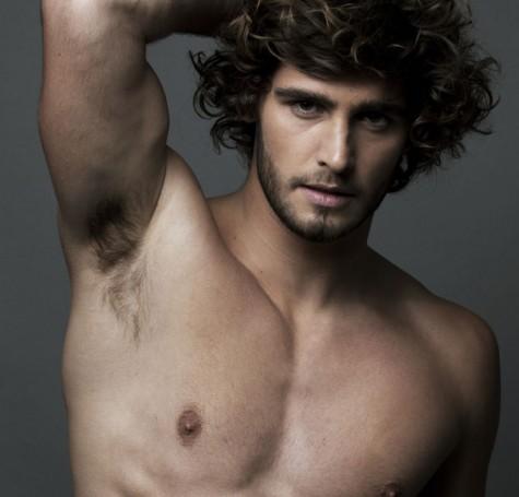 shirtless model