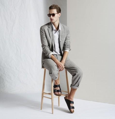 dép nam đẹp và suits