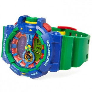 Casio G-Shock GA-400-2A Crazy Colour Watch (Blue & Green)