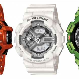 Casio's tri-colour watches