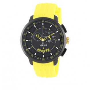 VERSUS Versace MANHATTAN SGV04 Chrono Silicone Yellow Black