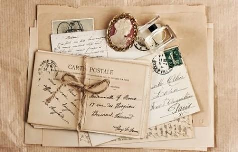 Postcard và thư tay