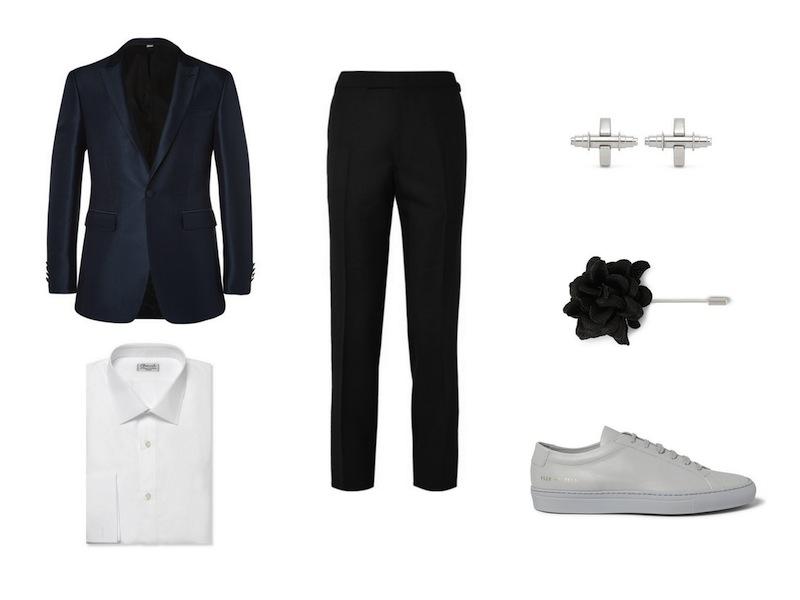 cách phối đồ cùng tuxedo - The dressed down tuxedo - elleman