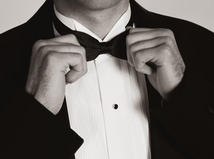 cách phối đồ cùng tuxedo - bow tie - elleman