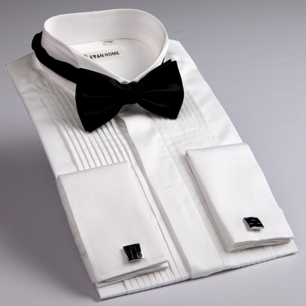 cách phối đồ cùng tuxedo white shirt & cufflinks - elleman