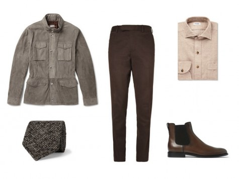 cách phối đồ vest với các kiểu áo khoác - field jacket 2 - elleman