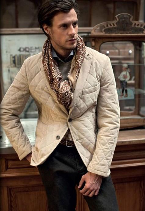 cách phối đồ vest với các kiểu áo khoác - quilted jacket 1 - elleman