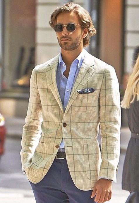 cách phối đồ vest với các kiểu áo khoác - sport jacket - elleman