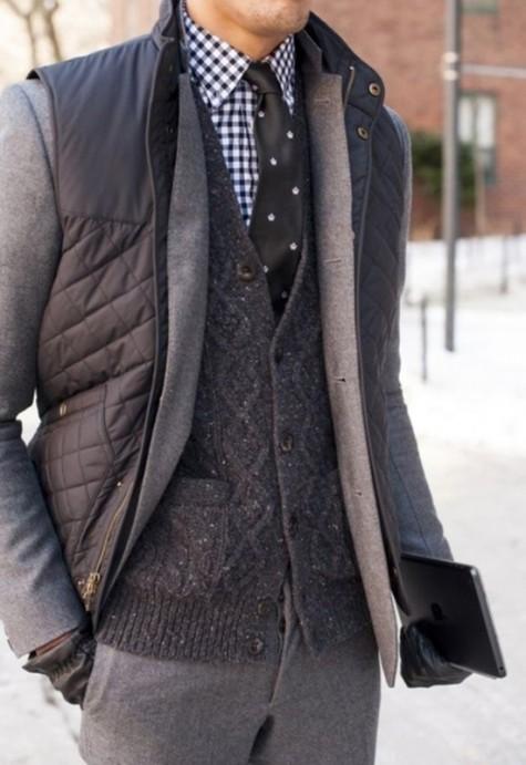 cách phối đồ vest với các kiểu áo khoác - wool jacket - elleman
