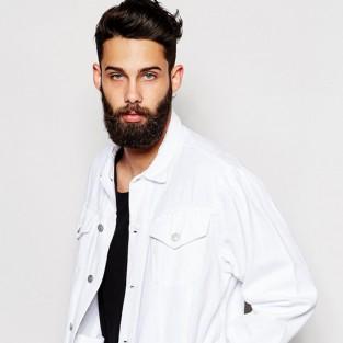 Các xu hướng áo & quần jeans nam hot 2016 - White Asos oversized denim jacket - elleman