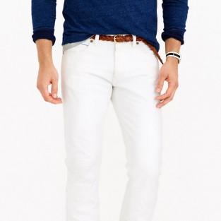 Các xu hướng áo & quần jeans nam hot 2016 - White J.Crew 484 jeans - elleman