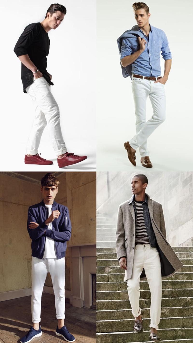 Các xu hướng áo & quần jeans nam hot 2016 - White - elleman
