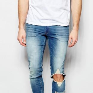 Các xu hướng áo & quần jeans nam hot 2016 - distressed ASOS etreme super skinny jeans - elleman