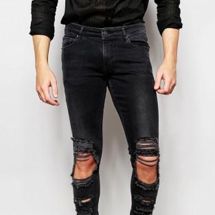 Các xu hướng áo & quần jeans nam hot 2016 - distressed ASOS extreme super skinny - elleman