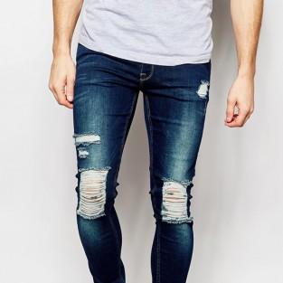 Các xu hướng áo & quần jeans nam hot 2016 - distressed ASOS extreme super skinny jeans - elleman