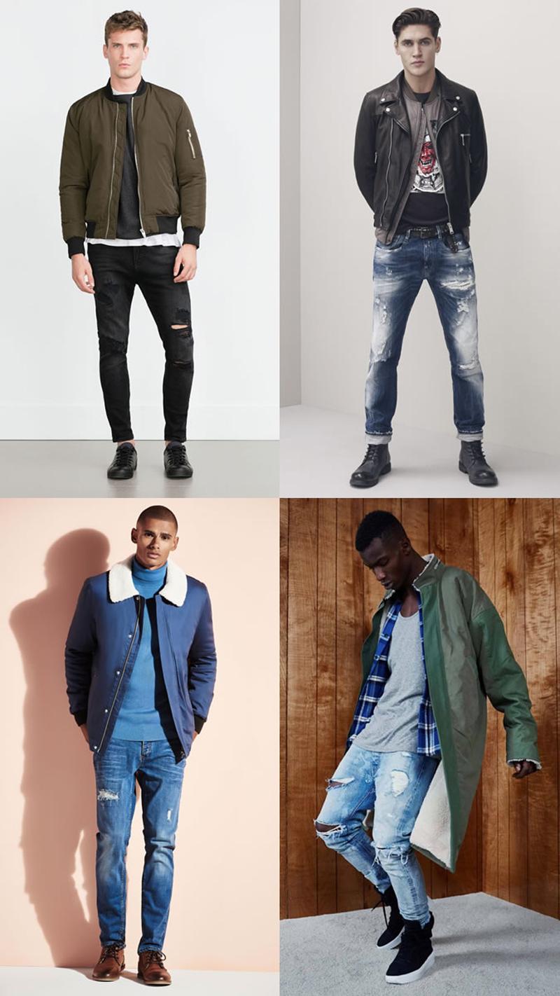 Các xu hướng áo & quần jeans nam hot 2016 - distressed - elleman
