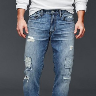 Các xu hướng áo & quần jeans nam hot 2016 - embellished GAP 1969 patchwork straight - elleman