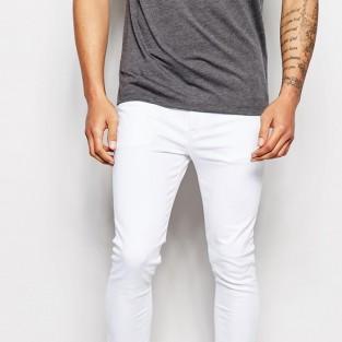 quần jeans nam trắng - ASOS Super Skinny Jeans In White - elleman