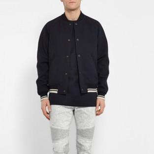 quần jeans nam trắng - NEIL BARRETT slim-fit bleached strecth-denim biker jeans - elleman