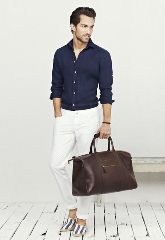 quần jeans nam trắng - block-up - elleman