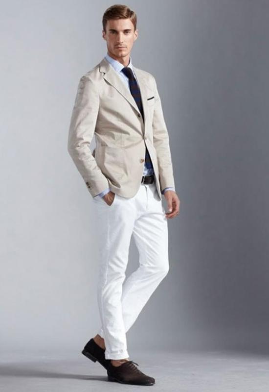 quần jeans nam trắng - play it smart - elleman