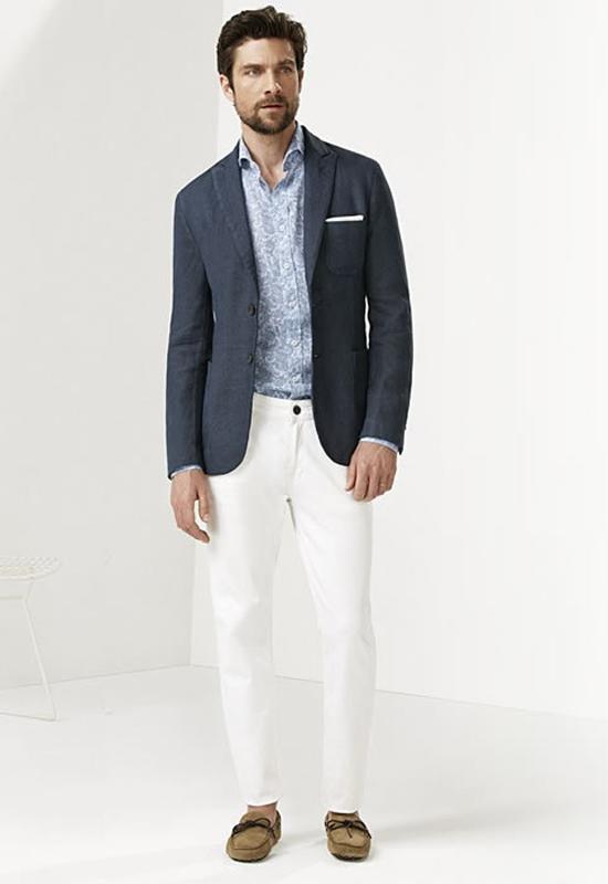quần jeans nam trắng - slim down - elleman