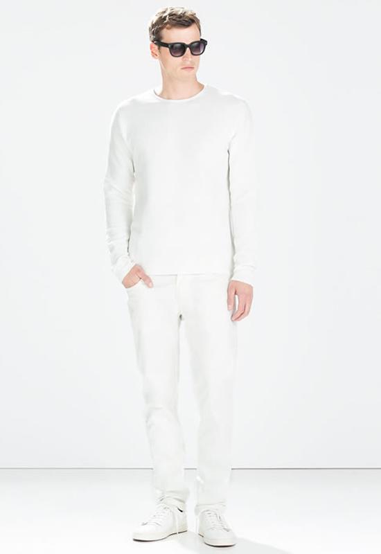 quần jeans nam trắng - white out - elleman