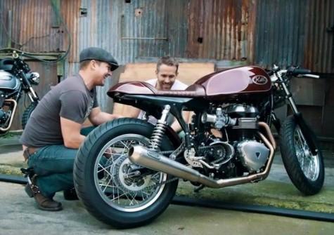 Ryan Reynolds & Triumph Thruxton cafe racer 12 - elle man
