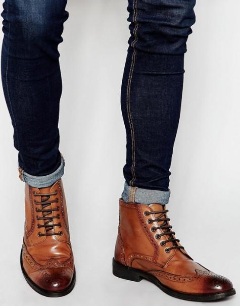 7 xu hướng thời trang giày nam nên tránh - brogue boots - elleman 2