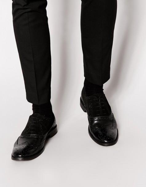 Đen - phong cách thời trang - Asos black brogues - elle man
