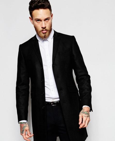 Đen - phong cách thời trang - Asos overcoat - elle man 2