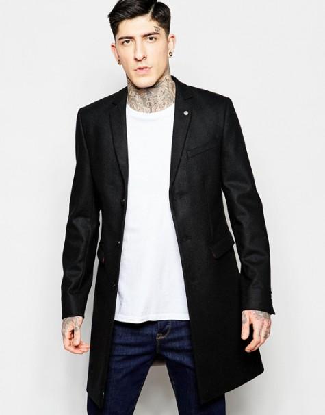 Đen - phong cách thời trang - Asos overcoat - elle man
